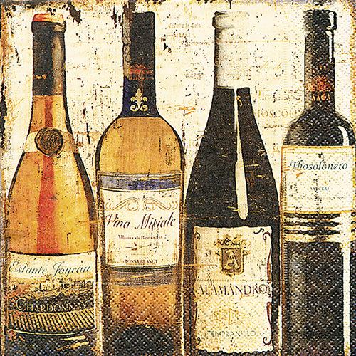 Cocktailservietten - Weinflaschen