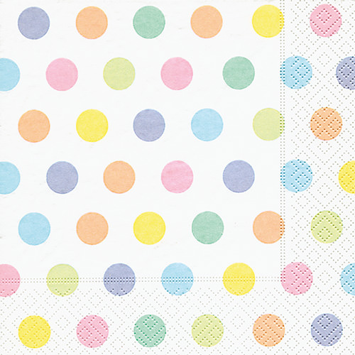 Servietten - Punkte pastell