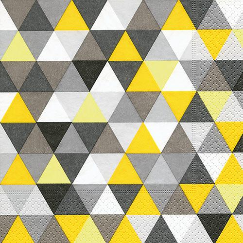 Servietten - Dreiecke gelb-schwarz