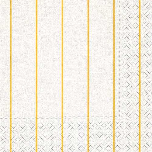 Servietten - Home weiß-gelb