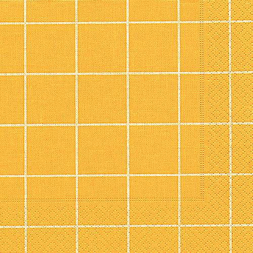 Servietten - Home Kästchen gelb