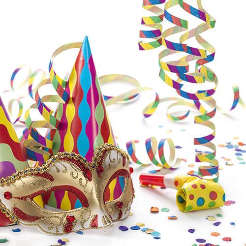 Servietten papierschlangen fasching 21768 ganzjahres servietten - Karneval dekoration tisch ...