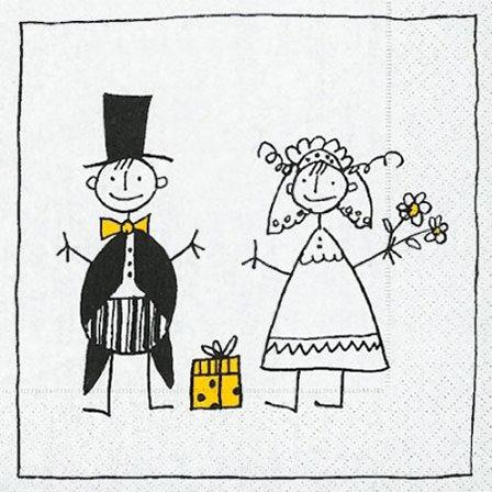 Servietten - Just married - Ehepaar