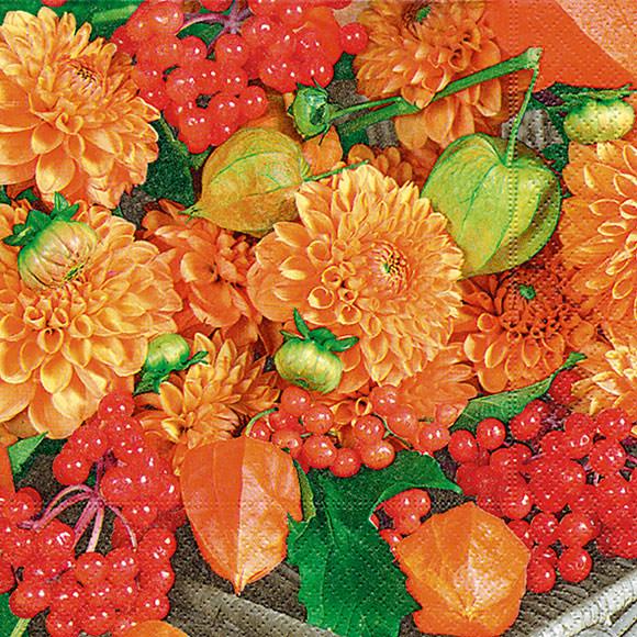 Servietten Blumen Und Fruchte 200559 Herbst Servietten Von