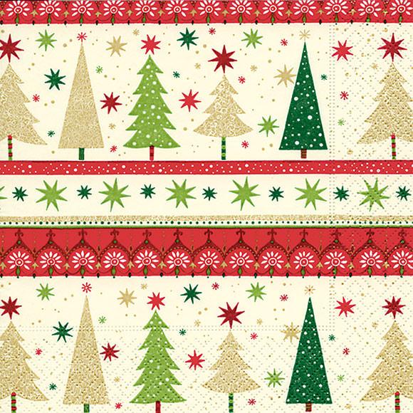 Christmas Napkins.Napkins Simple Xmas Trees
