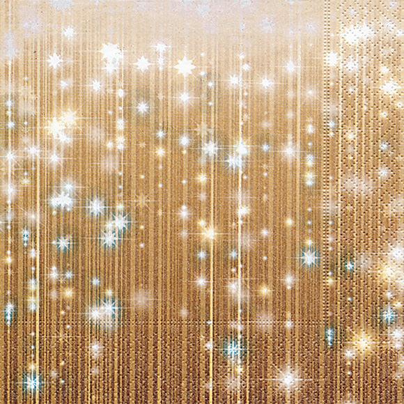 servietten goldener vorhang 600057 weihnachten. Black Bedroom Furniture Sets. Home Design Ideas