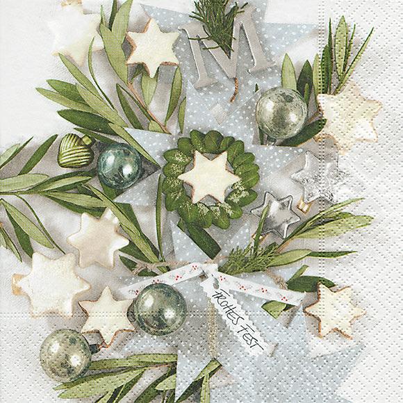 Servietten gr ne dekoration 600107 weihnachten servietten - Servietten dekoration ...