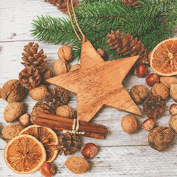 Servietten nat rliche dekoration 600131 weihnachten - Servietten dekoration ...