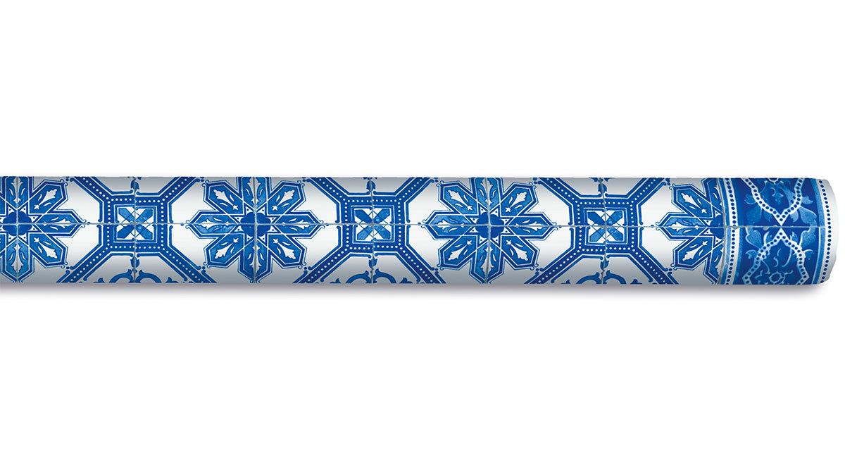 tischtuchrolle blaue fliesen 5m 900003 tischtuchrollen. Black Bedroom Furniture Sets. Home Design Ideas