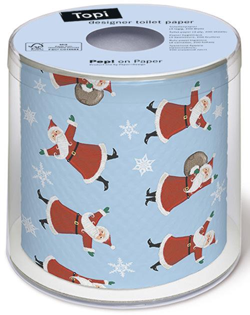 toilettenpapier weihnachtsmann tanzt toilettenpapier. Black Bedroom Furniture Sets. Home Design Ideas