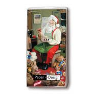 Handkerchiefs - Santa is busy