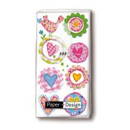 Handkerchiefs - Lovely hearts