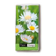 Handkerchiefs - Daisies on green