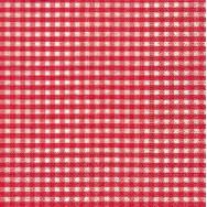 Cocktail napkins - Vichy red