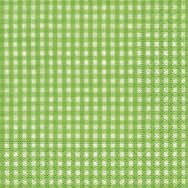 Cocktail napkins - Vichy green
