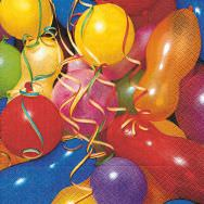 Napkins - Colourful balloons
