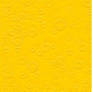 Napkins embossed - Moments Uni yellow