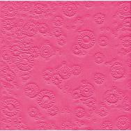 Napkins embossed - Moments Uni pink