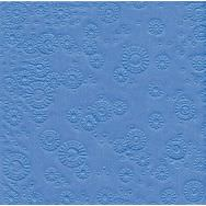 Napkins embossed - Moments Uni light blue