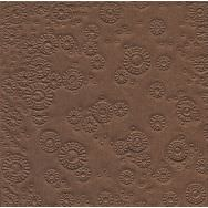 Napkins embossed - Moments Uni brown