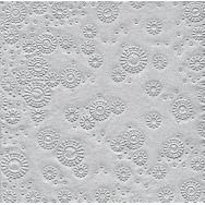 Napkins embossed - Moments Uni silver