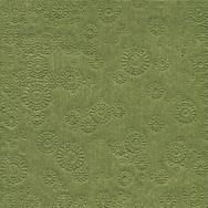 Napkins embossed - Moments Uni moss green