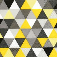 Cocktail napkins - Triangles yellow-black