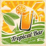 Cocktail napkins - Tropical bar