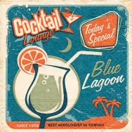 Cocktail napkins - Blue lagoon