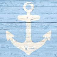 Cocktail napkins - Anchor sign blue
