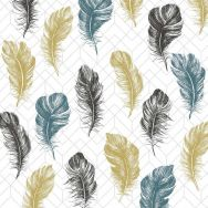 Cocktail napkins - Coloured feathers
