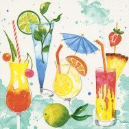 Cocktail napkins - Colourful drinks