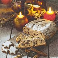 Cocktailservietten - Christstollen