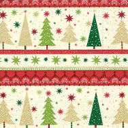 Cocktail napkins - Simple Xmas trees