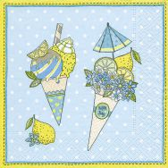 Cocktail napkins - Ice cream cones