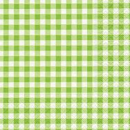 Cocktail napkins - New Vichy green
