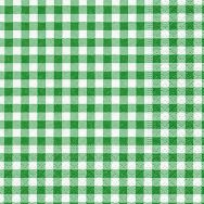 Cocktail napkins - New Vichy forest green