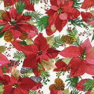 Cocktail napkins - Shiny poinsettia