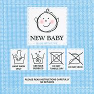 Cocktail napkins - New baby blue