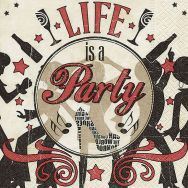 Cocktail napkins - Life is a party