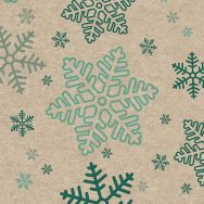 Cocktail napkins - Snowflakes - 100% of recycling