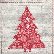 Cocktail napkins - Red tree