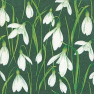 Cocktail napkins - Painted snowdrops