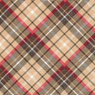 Cocktail napkins - Tartan brown
