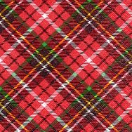 Cocktail napkins - Tartan red