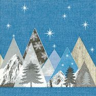 Cocktail napkins - Peak mountains