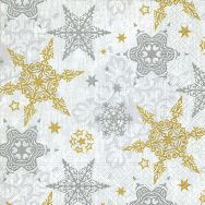 Cocktail napkins - Delicate stars silver