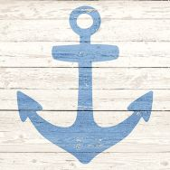 Cocktail napkins - Anchor sign white