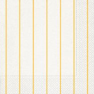 Dinner napkins - Home white-yellow