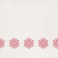 Dinner napkins - Starry white-red - Airlaid